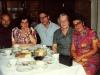 In Taratutas' apartment. From the left: Aba Taratuta,  wife of Leonid Reines - Elizaveta Reines, Leonid Rainis, mother of Leonid Rainis Zinaida, Ida Taratuta. Leningrad, end of 1970s,  co RS