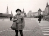 Alik Burshtein in Moscow in  Red Square. Came to Moscow to get exit visas and to say at last good-bye to that country. 1987, co RS