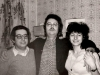 From the left: Arkady Dynin, Dima Smoliansky, Lena Dynina. Leningrad, Oct. 1987,  co RS