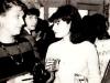 From the left: Polina Gorodetsky, Alik Burshtein, Tanya Zunshain (from Riga). Leningrad, 1980s, co RS