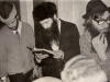 From the left: Zalman Kunik, Yitzhak Kogan, Nikita Dyomin (Avrum Shmulevich). Leningrad, 1980s. co RS