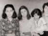 From the left: Hana (Anna) Rabinovich, Sofa and Masha Beletzky, Zhenja Veisman. Leningrad, March 1985, co RS
