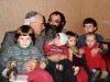 Werner Guggenheim (Switzerland) meets with ? and his five children. Leningrad, 19??. co RS