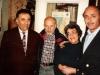 In the Taratutas apartment. From the left: ?, Aba Taratuta, Ida Taratuta, a guest from Switzerland Freddi Zaks. Leningrad, 197?.
