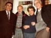 In the Taratutas apartment. From the left: ?, Aba Taratuta, Ida Taratuta, a guest from Switzerland Werner Guggenheim. Leningrad, 197?. co RS