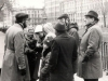 Michael Beizer ( left) carries out a tour on Jewish places of St.Petersburg-Petrograd-Leningrad. Leningrad, beginning of 1980s, co RS