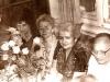 Shabbat in the Shpeizmans apartment. From the left: refuseniks Sonya Klieman, ? Kurgina, Olga Gershun, Ester Ash, Leonid Gershun. Leningrad, 19??. co RS