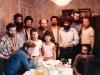 From the left: sitting - ?,  Michael Ryvkin; standing: ?, Nikita Dyomin (Avrum Shmulevich), ?, Shimon Frumkin, ?, Ilia Dvorkin, ?, ?. Leningrad, 1988, co RS
