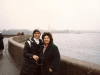 Two visitors from Israel in Leningrad, with the Peter-Paul fortress in the background. Leningrad. On the left Judy Enteen, 1986. co RS