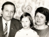 Roald and Galina Zelichonok with their niece. Leningrad, beginning of 1980s, co RS