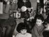 Children of refuseniks. In the foreground - Liza Wasserman (12, 7 years in refusal); behind her - Yana Dzhanashvili (6, 5 years in refusal); in the background, from the left: Olia  (Dina)  Waynerman-Nayfeld?  (6, 5 years in refusal), Misha ? (with a drum), Masha  Nilva (8, 6 years in refusal). Leningrad,  co RS