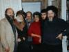 Chaim Potok (USA) meets with refuseniks at the Taratutas' apartment. From the left: Chaim Potok, Svetlana Kagan, Aba Taratuta, Ida Taratuta, Michael Taratuta, Abram Kagan. Leningrad, 1980s,  co RS