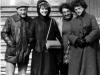 Marike Remer, a member of a Finland voluntary Christian group that helped Jewish refuseniks, meets with refuseniks. From the left: Aba Taratuta, Marike Remer, Ida Taratuta, Vera Sheiba. Leningrad, 1985 co RS