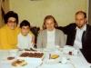 Visit of Shirley Goldstein (USA) to Taratutas. From the left: Ida Taratuta, Misha Taratuta, Shirley Goldstein, Aba Taratuta. Leningrad, December 1973 co RS co RS