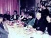 At Evgenya and Michael Kalendarev apartment not long before Taratutas departure to Israel. Sitting around the table, from the left: Vera Sheiba, Aba and Ida Taratuta, Faina Taratuta (mother of Aba), Jerry Rudman, Gail Shapiro, Frank and Bunny Brodsky. Standing with a camera – Edward Markov. Leningrad, December 1987. co RS