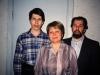 Alexei, Irina and Evgenii Lein, Leningrad, 1987, co Frank Brodsky