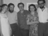 Exhibition of Evgeni Abezgaus, Leningrad 1975: Nina Boguslavskaia, David Chernoglaz, Alexander Boguslavsky, Irina Boguskavskaia, Lev Yagman, co RS.