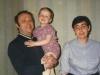 Mikhail, Evgeny, and Valentina Lerman, Leningrad, June, 1987, co Enid Wurtman