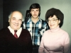 Leikhtman family: David, Eva and their son ?. Leningrad, 1986.