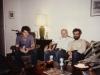 Meeting of David Grossman, US Consul in Leningrad, in his apartment with Aba Taratuta and Michael Beizer. Leningrad, 1986, co RS