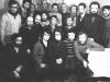 Moscow Jewish activists. From the left: 1st row - Arik Rachlenko, Leah Chernobilsky, Mikhaela Ahs,  Vladimir (Zeev) Shakhnovsky, Evgeny Yakir; 2nd row - Anatoly Shcharansky, Yosef Beilin, Igor Tufeld, Zachar Tesker, Alexander Gvinter ; 3rd row - Leonid Tsipin {KGB agent} , Zelinii, Dmirti Shtiglik, Victor Elistratov, Leonid Shabashov, Arkadii Polishcuek, Vladimir Slepak, Aharon Gurevich, Isaak Elkind, Michael Kremen. Moscow, November 1976, co RS