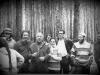 Moscow suburb forest, 1972.  Maria Braginsky, Vladimir Slepak, Grigoi Tetelbaum with wife, Lev Gendin, Dan Roginsky, Anatoly Novikov co Elena Polsky