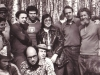 In the forest with Israeli sportsmen, Moscow 1974. Seated: sportsman, Lev Ulanovsky, Anatoli Sharansky. Standing: ?,Solomon Inditsky, Zeev Shakhnovsky, sportsman, Maria Slepak, Alexander Luntz co, Vladimir Slepak.
