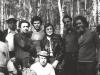 A meeting in Ovrazhki. From the left: 1st row - Lev Ulanovsky, Anatoly Shcharansky; 2nd row - Solomon Novikov,  Vladimir (Zeev) Shachnovsky, a sportsman from Israel, Maria Slepak, Alexander Luntz co, Vladimir Slepak. Moscow,  1973, co RS