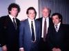 Lev Kazarnovsky, Alexander Shmukler, Frank Brodsky, Mikhail Chlenov in US embassy, Moscow, 1989, co Frank Brodsky