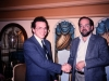 Alexander Shmukler, head of soviet lodge of Bnai Brith, with Michael Neiditch, Bnai Brith USA, Moscow, 1989, Hotel Savoy, co Frank Brodsky