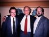 Alexander Shmukler, Joe Smukler, Michael Neiditch,  Moscow, Hotel Savoy, 1989 co Frank Brodsky