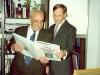 Alexander Lerner at the Australian Embassy reception for refusenks by Ambassador Pocock, Moscow, 1987, co Rosa Finkelberg