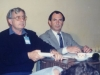 Amos Ettinger from Israeli delegation and Aron Orimian from Kol Israel in a Book Fair 1989, Moscow, September 1989, so Natalia Segev