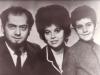 Pavel Abramovich co, Mara Balashinskaia, Felix Abramovich, Moscow 1973