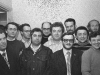 Hebrew teachers, Moscow, 1973. From the left: Lev Spivak, Zeev Elstein,  Zeev Tulovsky, Mikhail Goldblat, Lev Ulanovsky, Naum Rapoport, Mikhail Bronstein, Valeri Shulman, Zeev Shakhnovsky, Yakov Vilge, Mikhail Chlenov, Alexander Bolshoi