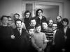 In the foreground: Mikhail Goldblat, Mikhail Chlenov. The rest from the left: Zeev Elstein, Vladimir Tulovsky, Valeri Shulman, Lev Spivak, Alexander Bolshoi, Naum Rapoport, Lev Gorodetsky, Zeev Shakhnovsky, Yakov Vilge, Mikhail Bronstein, Lev Ulanovsky, Zeev Kuravsky, co A. Lunts