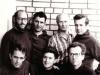 Scientists hunger strike in  June 1973, Moscow. First row: Alexander Luntz, Anatoly Natan Libgober, Moshe Gitterman; Second row Dan Roginsky co, Alexander Voronel, Mark Azbel, Victor Brailovsky.