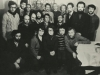 Moscow Jewish activists. From the left: 1st row - Arik Rachlenko, Leah Chernobilsky, Mikhaela Ahs,  Vladimir (Zeev) Shakhnovsky, Evgeny Yakir; 2nd row - Anatoly Shcharansky, Yosef Beilin, Igor Tufeld, Zachar Tesker, Alexander Gvinter ; 3rd row - Leonid Tsipin {KGB agent} , Zelinii, Dmirti Shriglik, Victor Elistratov, Leonid Shabashov, Arkadii Polishcuek, Vladimir Slepak, Aharon Gurevich, Isaak Elkind, Michael Kremen. Moscow, November 1976, co RS