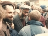Alexander Kholmiansky, Yosef Begun, Shimon Yantovsky, Welcoming POZ Alexei Magark after release from forced labor camp, Moscow, 1987, co Enid Wurtman