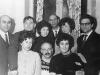 First row l-r: Nomi Drabkina, Lev Shinkar, Elena Polsky; second row -  Magid ? (opera singer), Leonid Libkovsky, Mara Balashinskaya, David Drabkin, Sonya Polsky, ?, Moscow, 1969