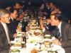 Meeting in Supreme Soviet between refusenik activists and Soviet and OVIR oficials, organized by Congressman Steny Hoyer, Moscow 1988. Foreground Yuli Kosharovsky co (left) and Rudolf Kuznetsov (right).