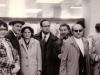 Farewell of Kirill Khenkin and Aharon Spielberg, l-r: Aharon Spielberg, Ida Faineman, mother of Spielberg, Victor Polsky, Vladimir Slepak, Kiril Khenkin.  Sheremetyevo Airport, Moscow, 10.3.1973, co Dan Roginsky.