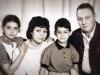 Mushinsky family: Katia, Rimma, Alexander and Vladimir co, Moscow, 80s.