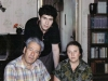 Ratner- Bialy  family:  Leonid and Judith, and their son Alexander,  Moscow, 1988  co RS