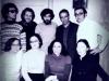 Standing:  Alexander Slepak, Vladimir Slepak, Alexander Goldfarb, Alexander Lunts, ?. Seated  Lusya Lunts, Maria Slepak co, guest and Valentina Goldfarb, Moscow, 1975
