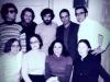 First row l-r: Lusya Lunts, Maria Slepak, guest, Valentina Goldfarb; second row: Alexander Slepak, Vladimir Slepak, Alexander  Goldfarb, Alexander Lunts, ?, Moscow, 1974, co V.Slepak