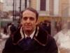 Alexander Lunts on the hillock,  Moscow, winter 1973-74, co Slepak