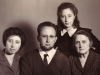 L-p: Sonya, Victor, Svetlana and Ida Moiseevna Polsky (mother of Victor Polsky).