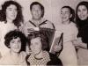 First row l-r: Elena Polsky,co,  Sonya Polsky; second row - Tina Brodetsky, Anatolii Dukor, Alla Milkina, Rima Korenfeld, Moscow, 1969.