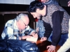Leon Uris autographing his book Exodus for members of Bnai Brith in Riga, Latvia, 1989, co Frank Brodsky